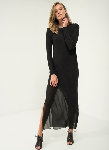 Asimetrik Şifon Detaylı Elbise People By Fabrika